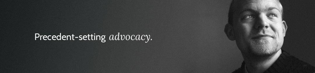 Precedent-setting advocacy.